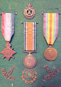 Medal Trio - 1914-15 Star, British War Medal, Victory Medal - Pip, Squeak and Wilfred